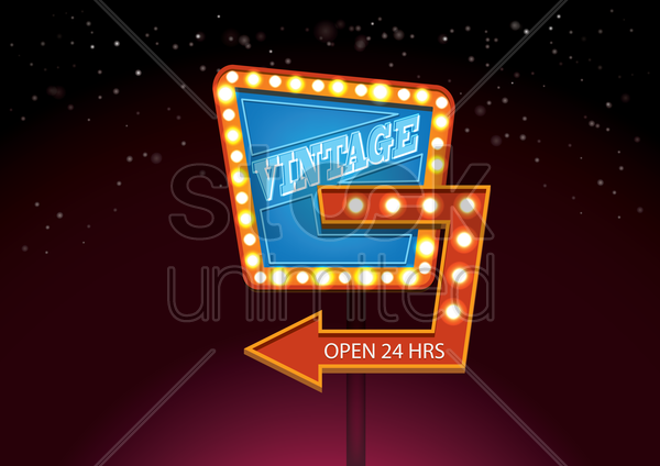 vintage signboard vector graphic