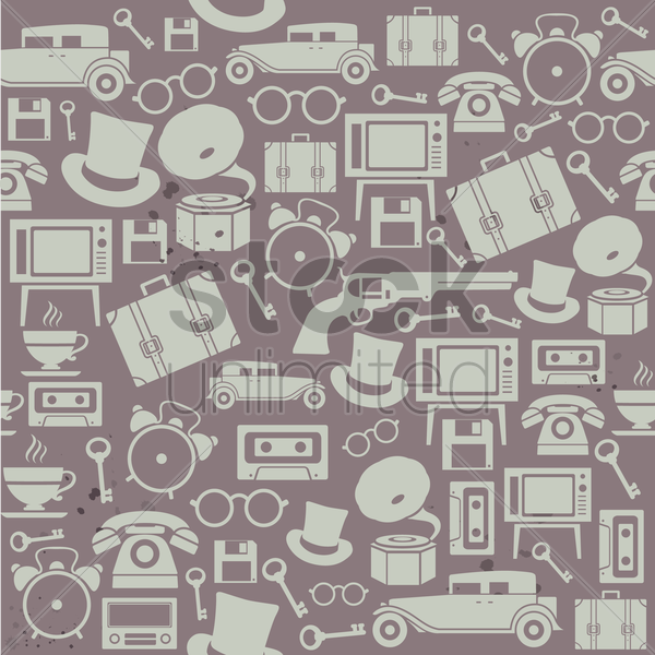 vintage theme background vector graphic