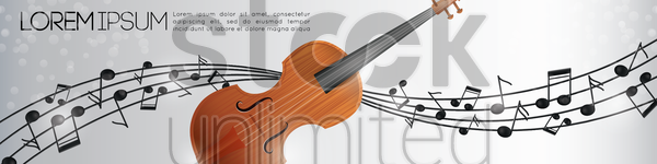 violin banner vector graphic