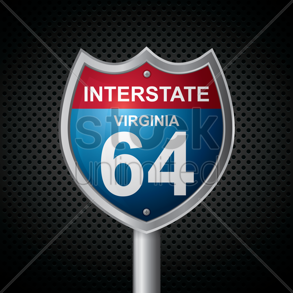 virginia 64 route sign vector graphic