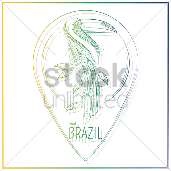 visit brazil vector graphic