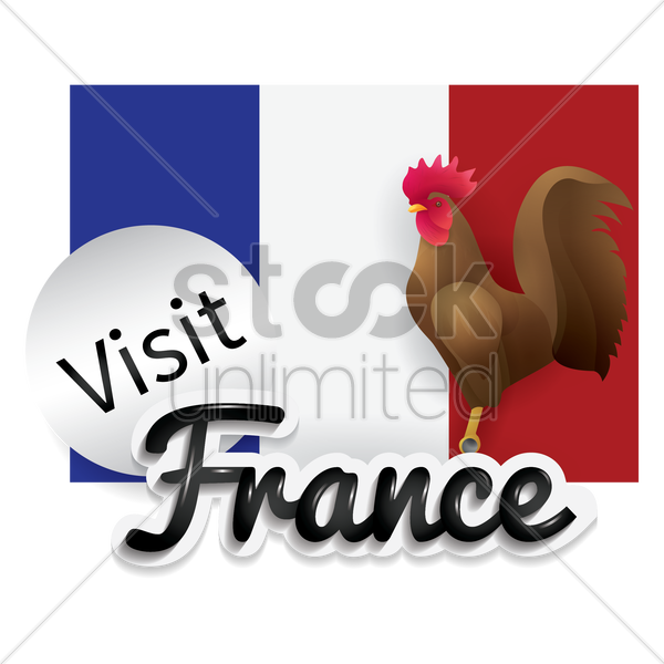visit france vector graphic