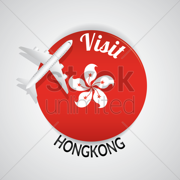 visit hong kong vector graphic