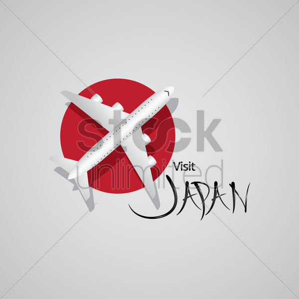 visit japan vector graphic