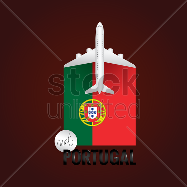 visit portugal concept vector graphic