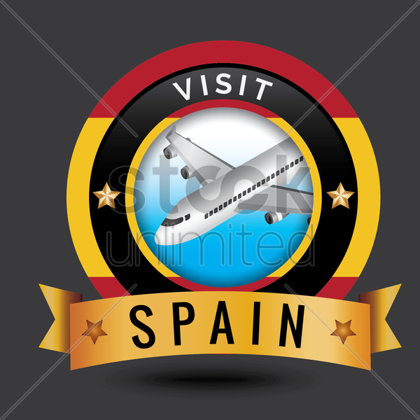 visit spain sticker vector graphic