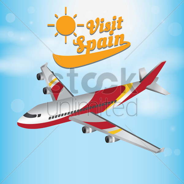 visit spain wallpaper vector graphic