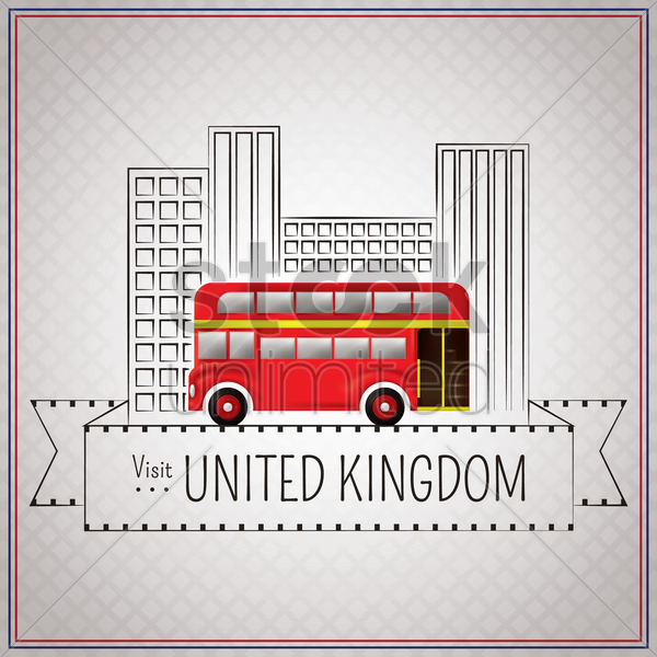 visit united kingdom wallpaper vector graphic
