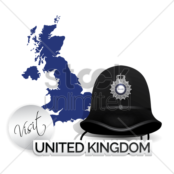 visit united kingdom vector graphic
