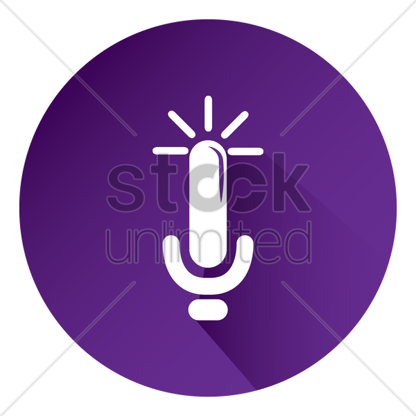 voice recorder icon vector graphic