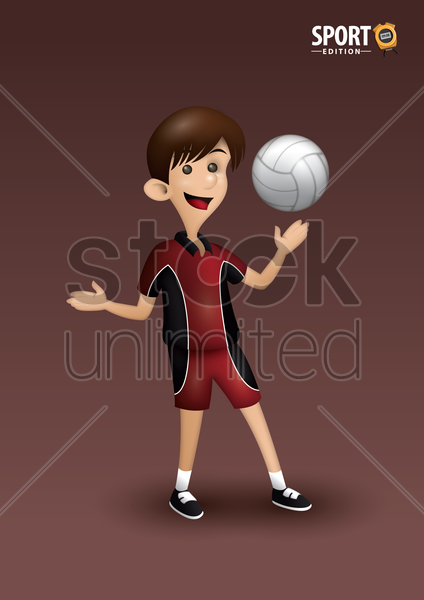 volleyball player poster vector graphic