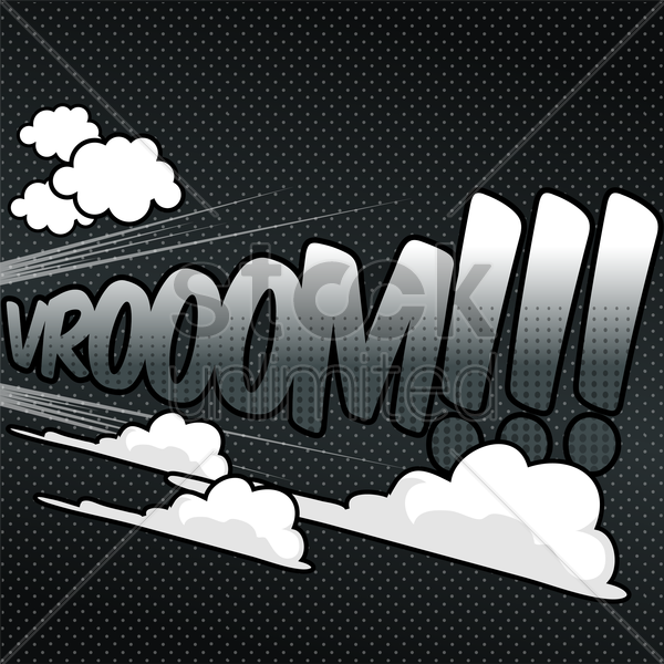 vroom comic speech bubble vector graphic