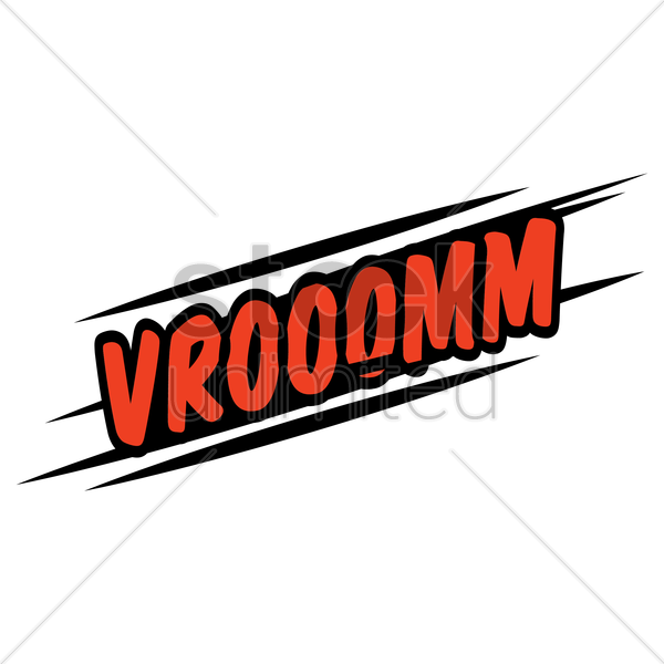 vrooomm comic speech bubble vector graphic