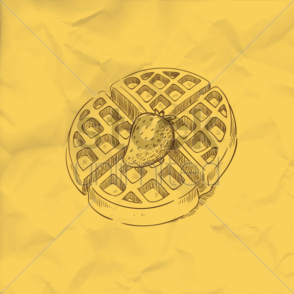 waffle vector graphic