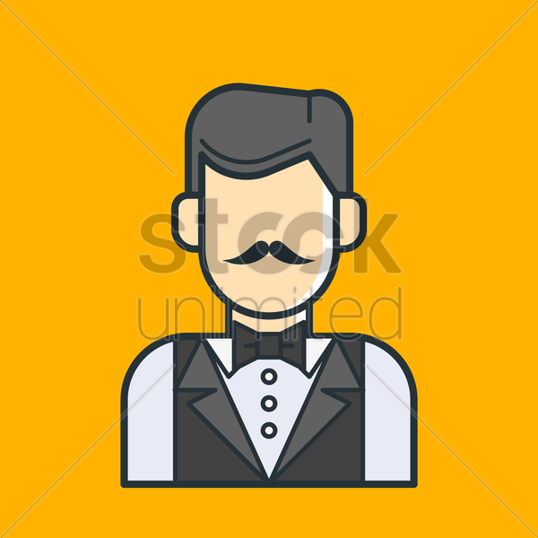 waiter vector graphic