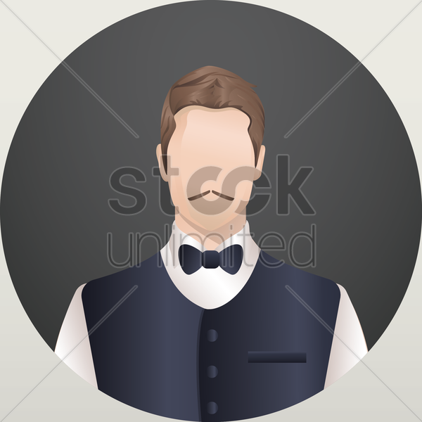 Free waiter vector graphic
