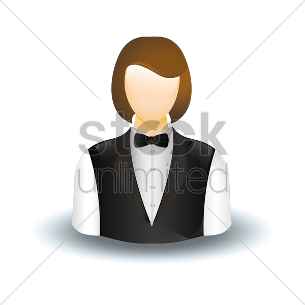 Free waitress vector graphic