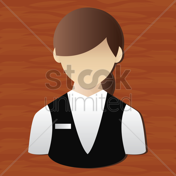 waitress vector graphic