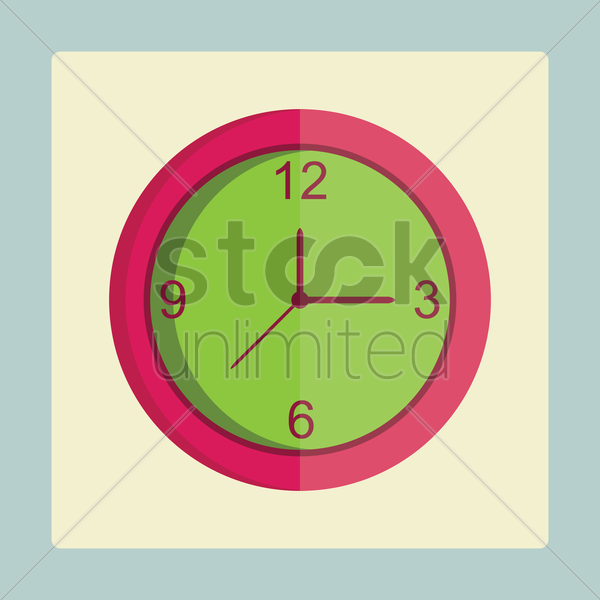 Free wall clock vector graphic