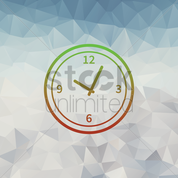 wall clock vector graphic
