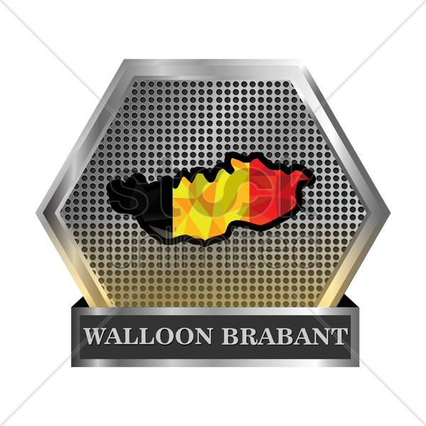 walloon brabant map vector graphic
