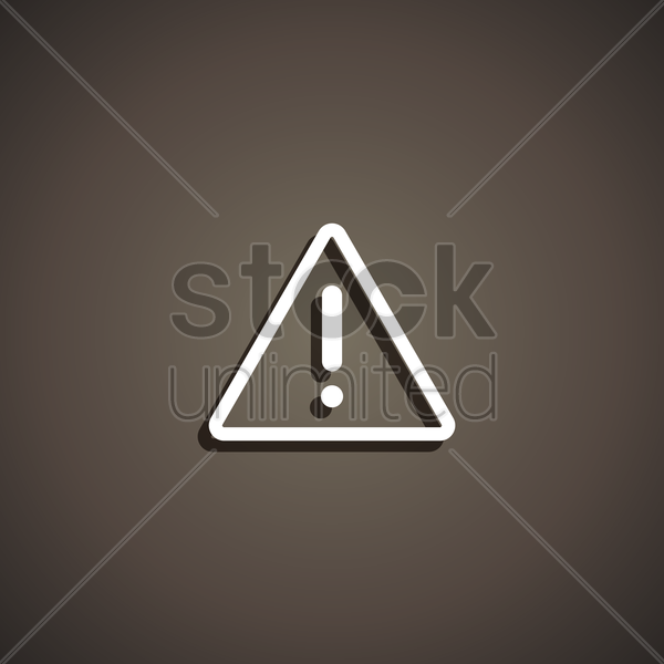 warning icon vector graphic
