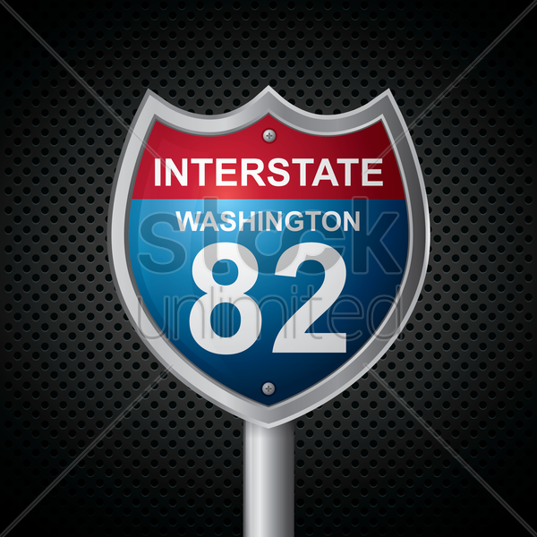 washington 82 route sign vector graphic