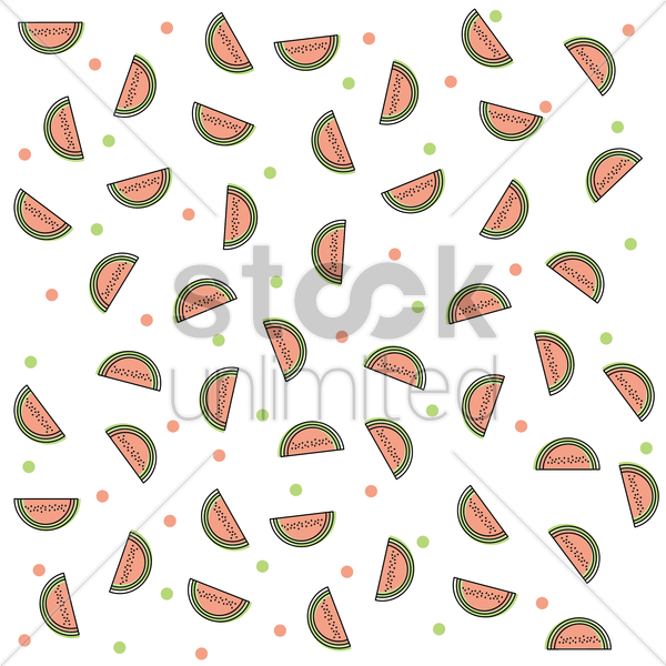 watermelon slice background vector graphic