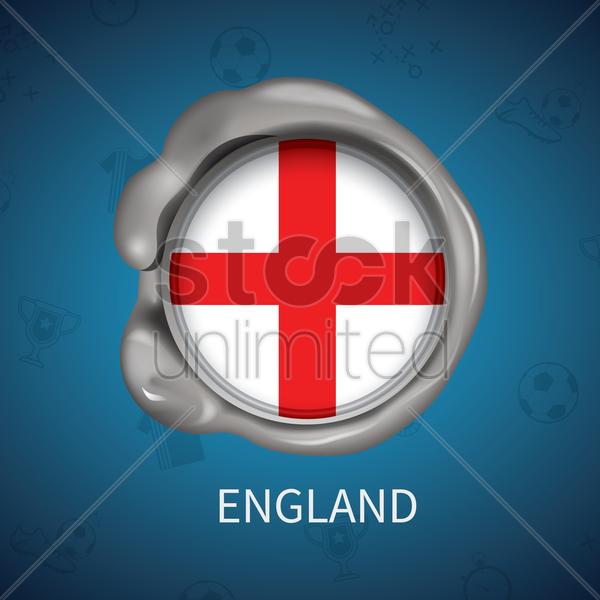 wax seal of england flag vector graphic