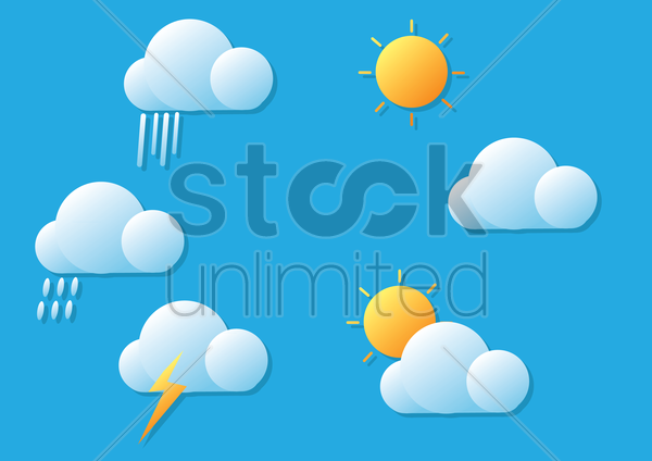 weather forecast vector graphic
