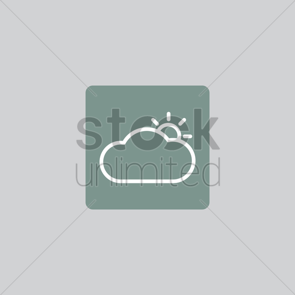 weather icon vector graphic