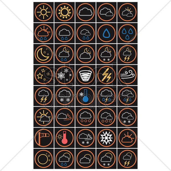 Free weather icons vector graphic