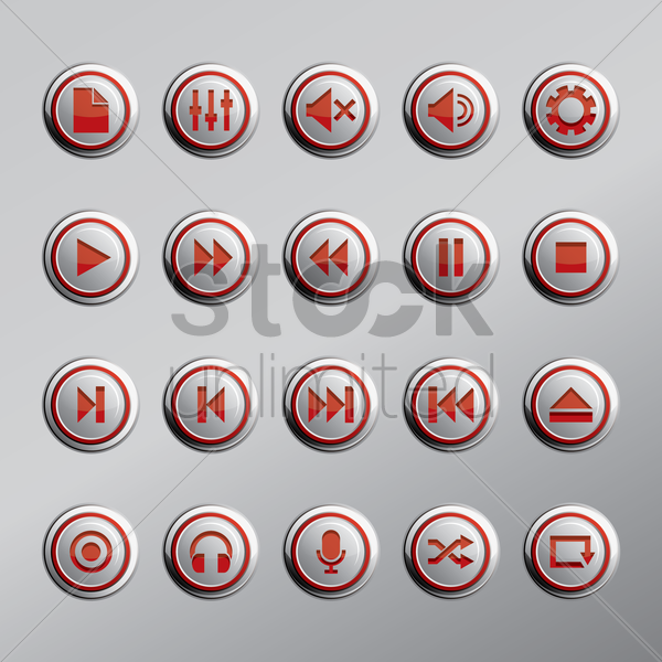 web buttons icon vector graphic