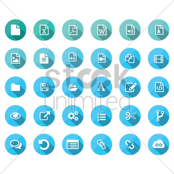 web icons vector graphic