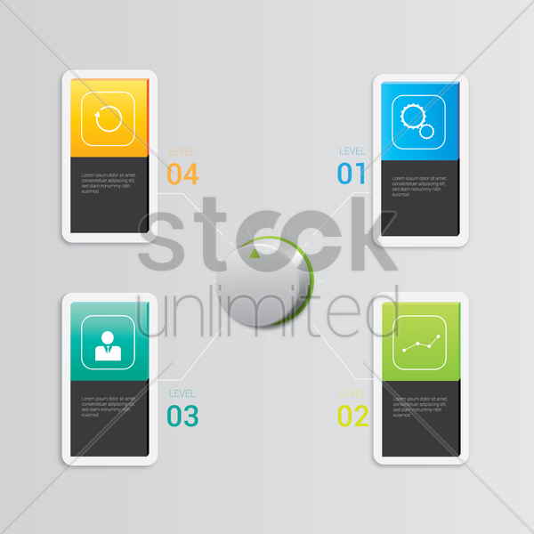 web infographic vector graphic