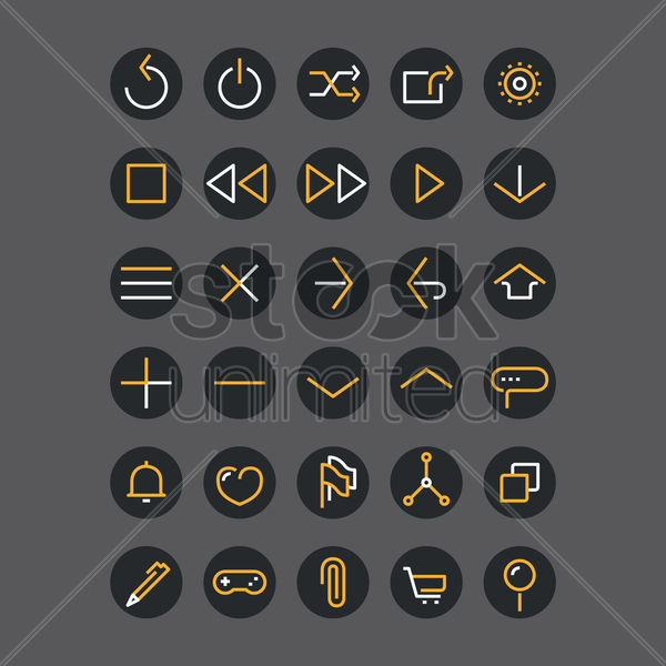 web interface icons vector graphic