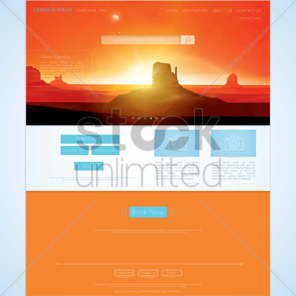 web page vector graphic