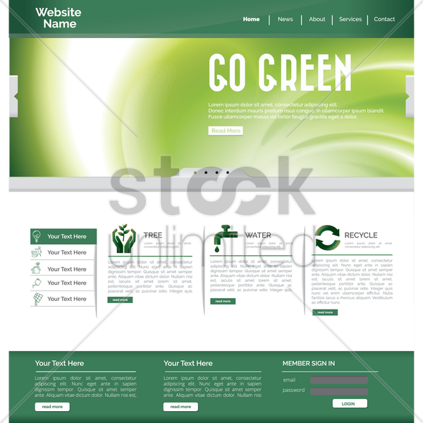 website page vector graphic
