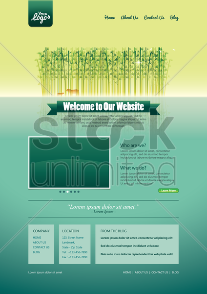 website template design vector graphic