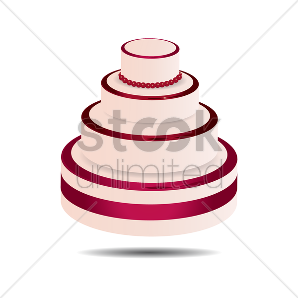 wedding cake vector graphic