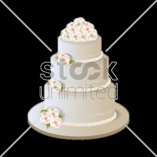 Wedding cake Vector Image - 1875202 | StockUnlimited