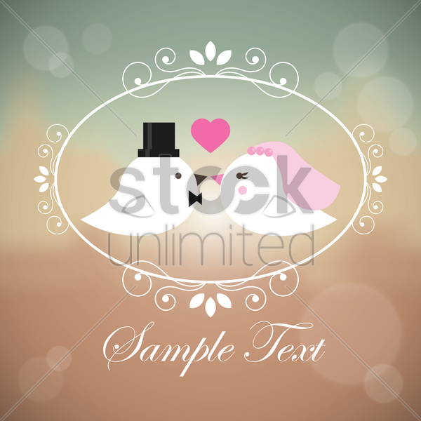wedding card design vector graphic