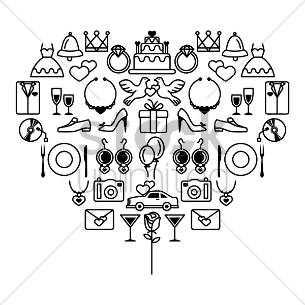 wedding collection vector graphic