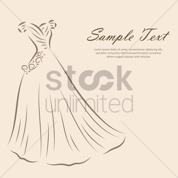 wedding dress background vector graphic
