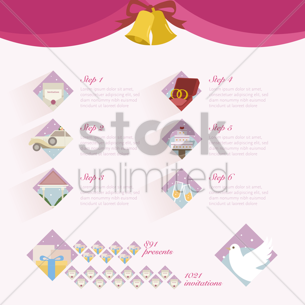 wedding instructions vector graphic