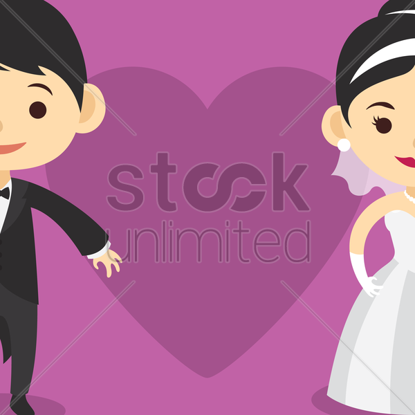 wedding invitation card design vector graphic