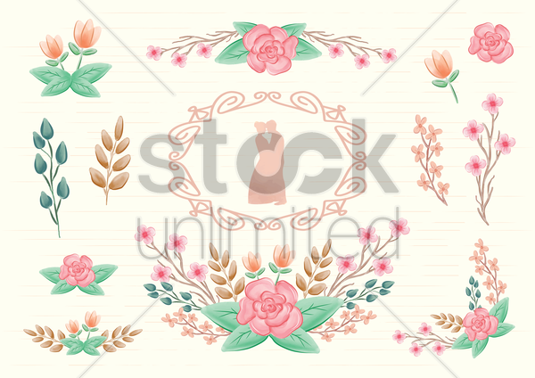 wedding invitation vector graphic