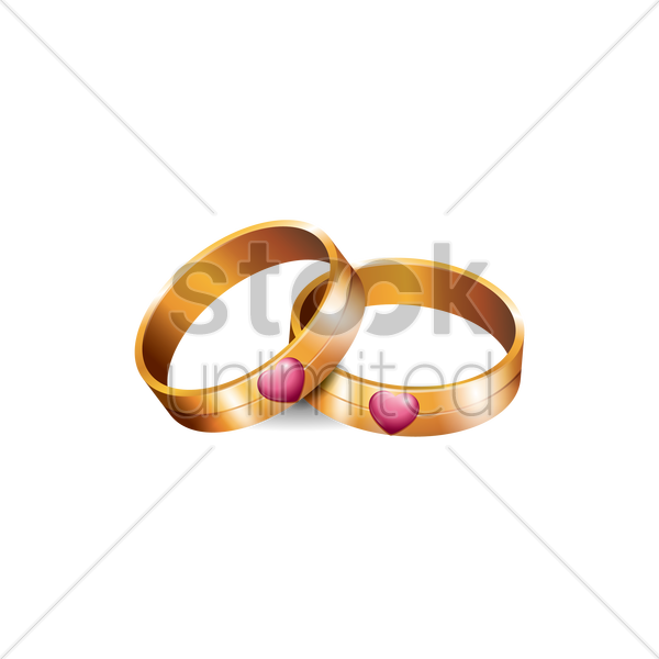 wedding rings vector graphic