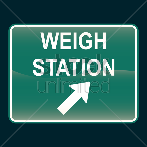 weigh station sign vector graphic