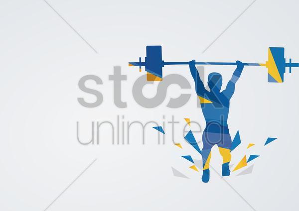 weightlifting in action vector graphic